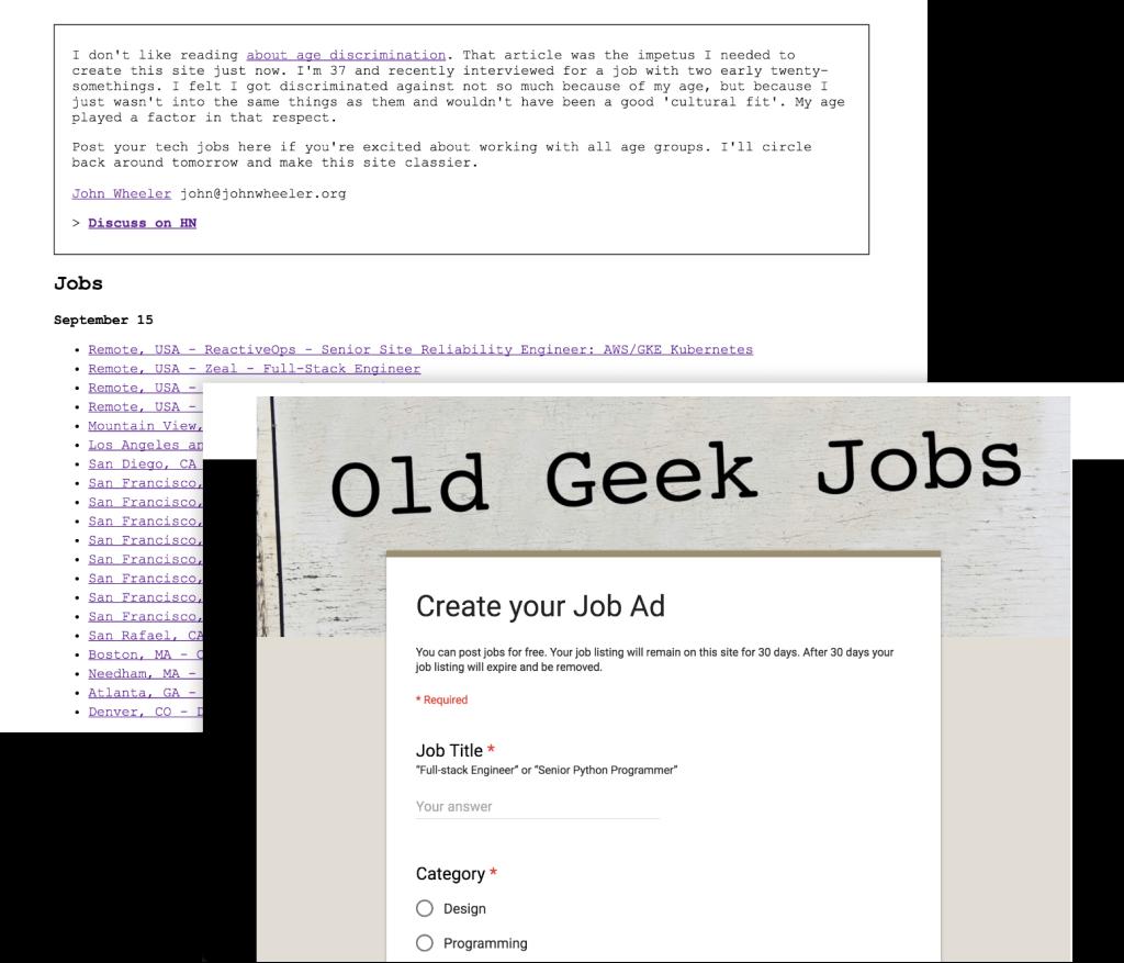 Old Geek Jobs before