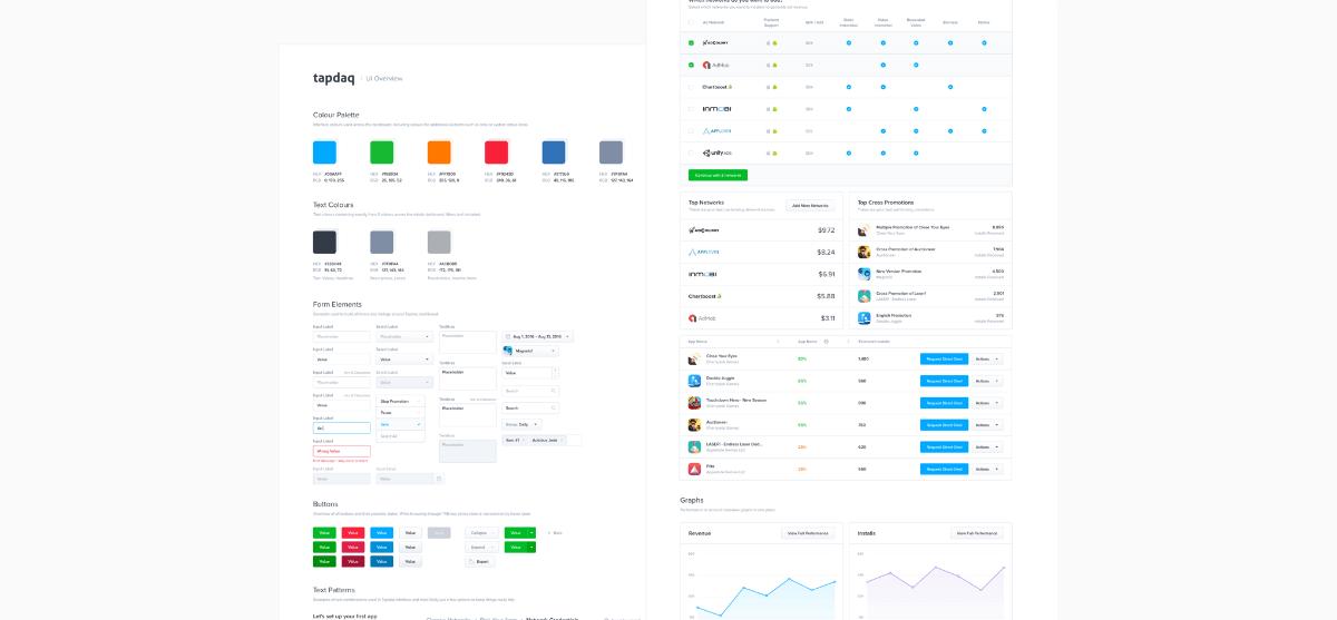 Tapdaq UI Overview—Styleguide