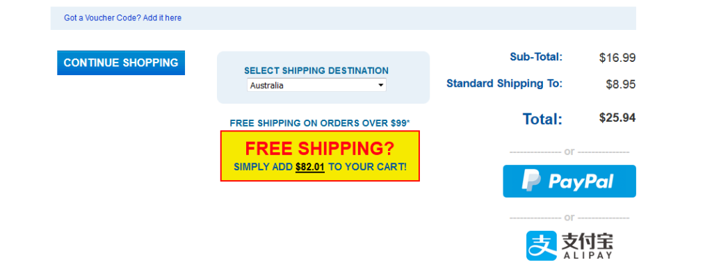 Improve checkout abandonment rates with free shipping