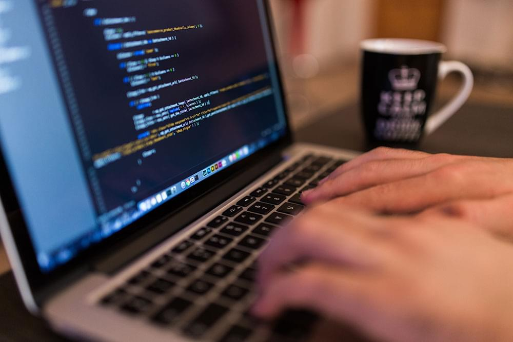 A coder at work