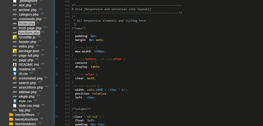 ICEcoder color styles