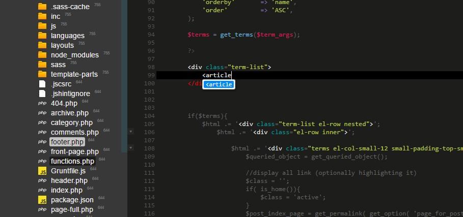 ICEcoder HTML code assist