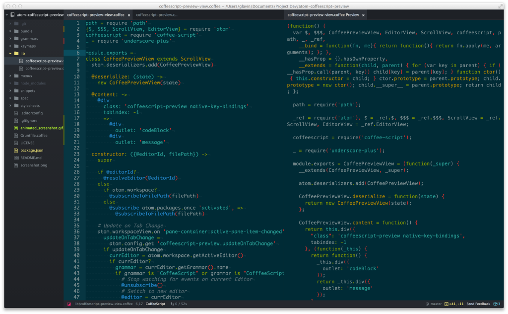 Preview for Atom