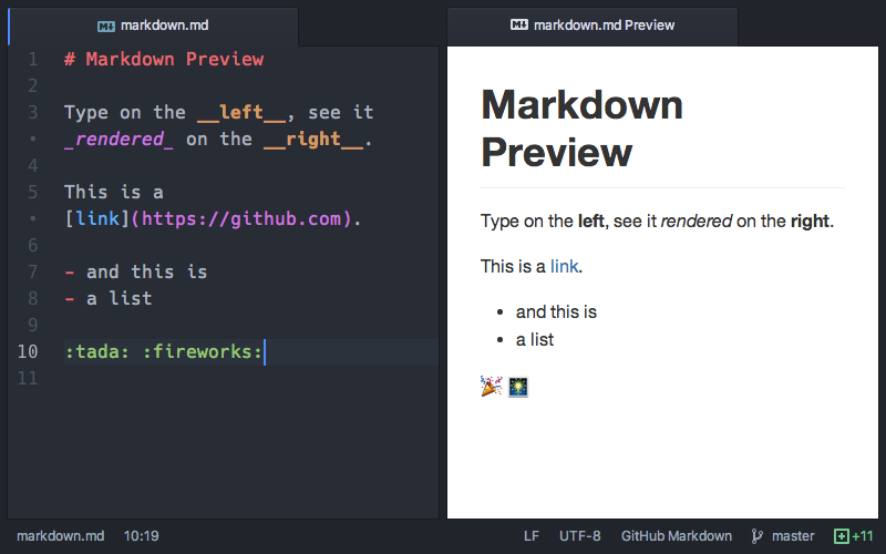 Markdown preview