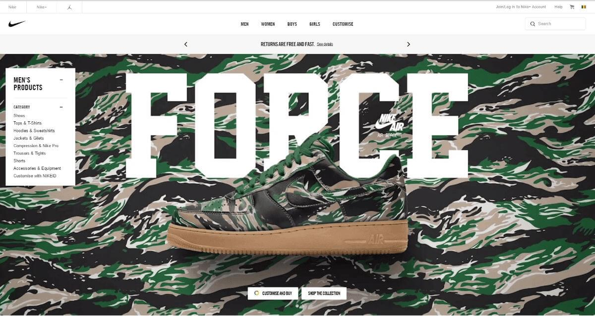 Force: Nike typography