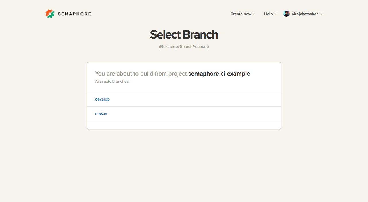 Select Branch