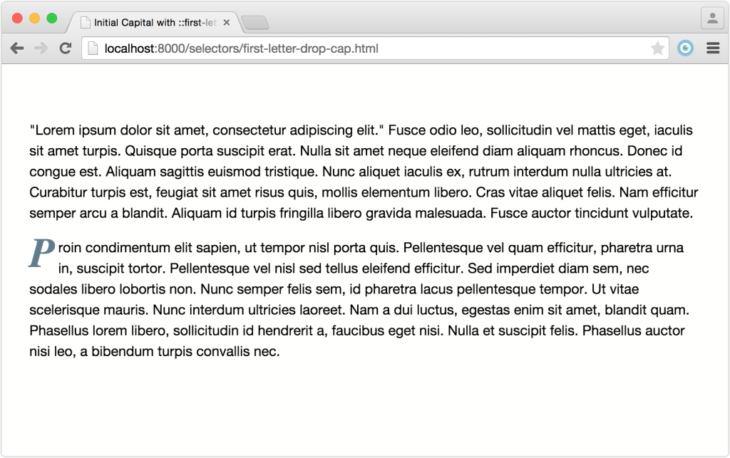 SelectorsFirstLetterAndQElement.Chrome