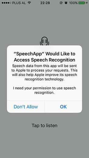 Speech Recognition access