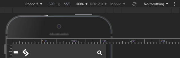 mobile phone simulator device toolbar options