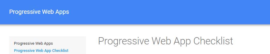 Progressive Web App Checklist