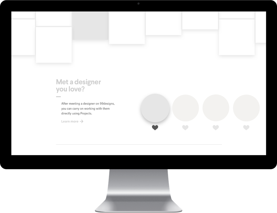 Lo-Fi mockup design of the homepage
