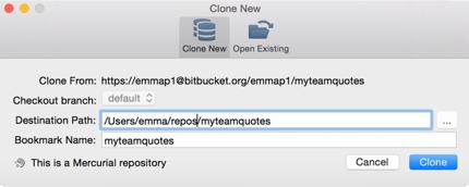 Bitbucket Clone New