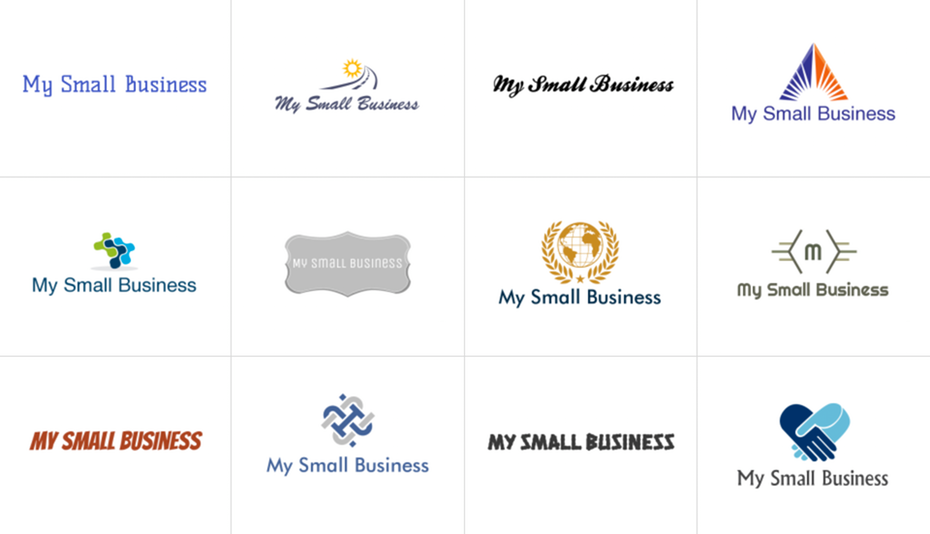 Logo makers generate hundreds of concepts based on the name and industry of your business. Image via LogoMaker.com