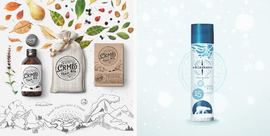 Brand identity for CRMBS and packaging for Alaskan