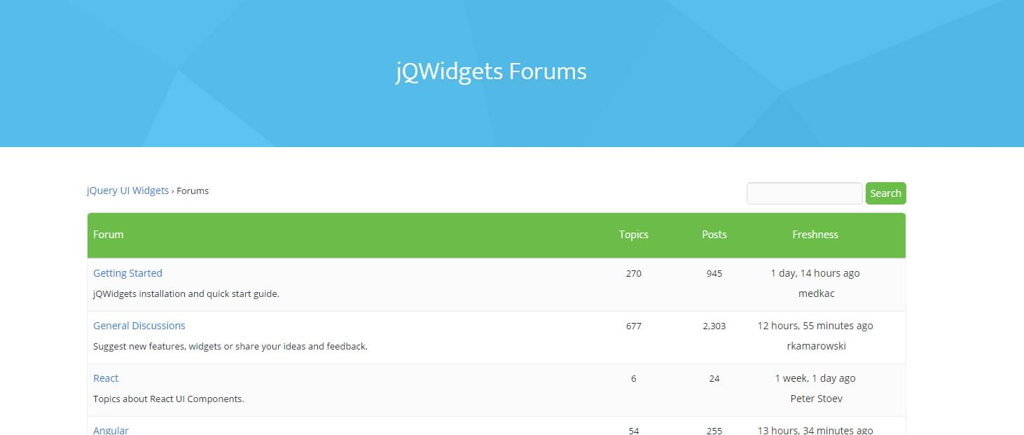 jQWidgets forums image