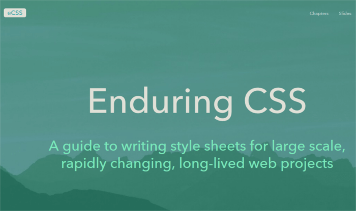 Enduring CSS or eCSS methodology.