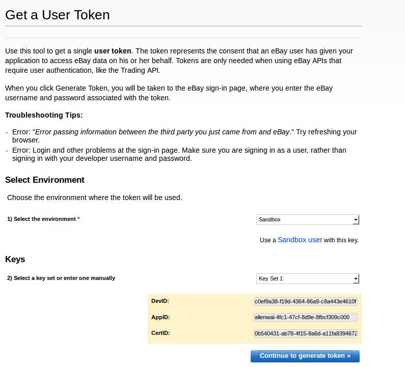generate token