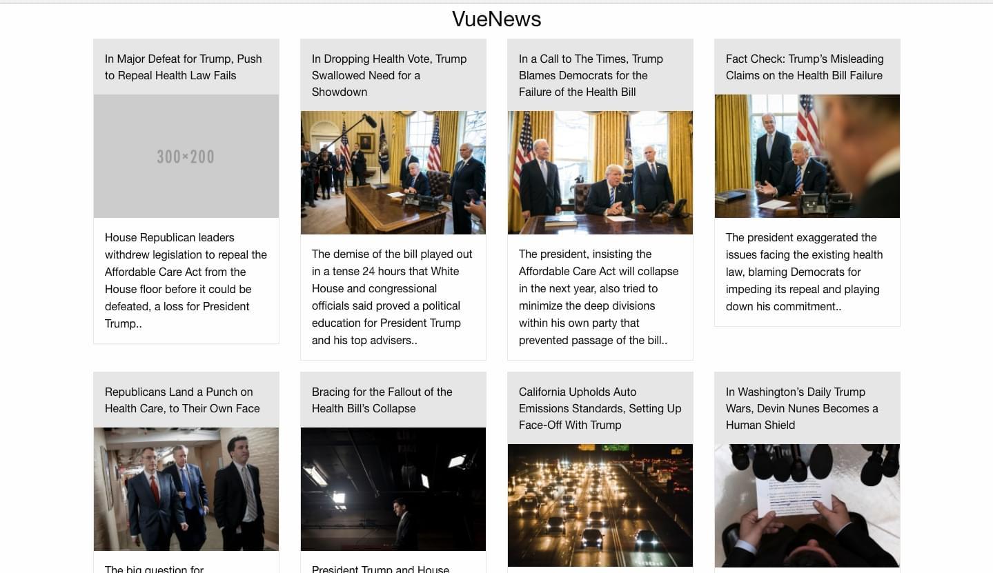 NYT News App - Vue.js