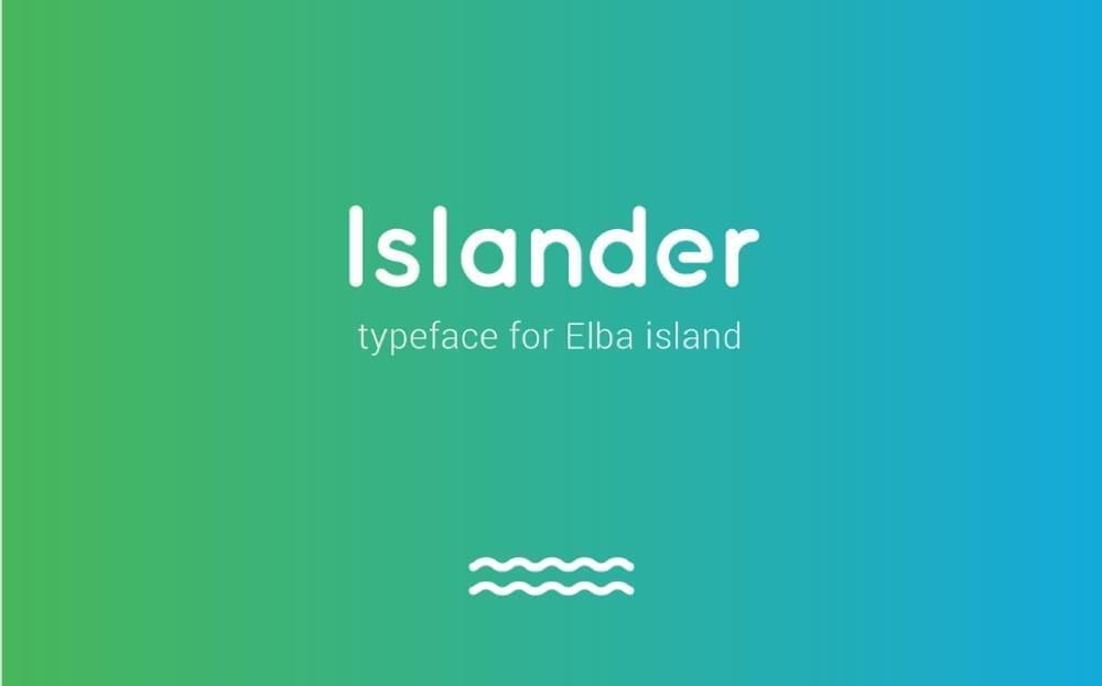 Islander Typeface banner