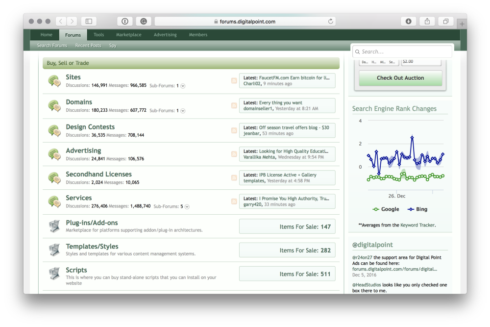 DigitalPoint screen shot