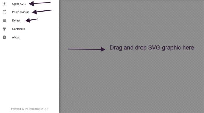 SVGOMG Interface.