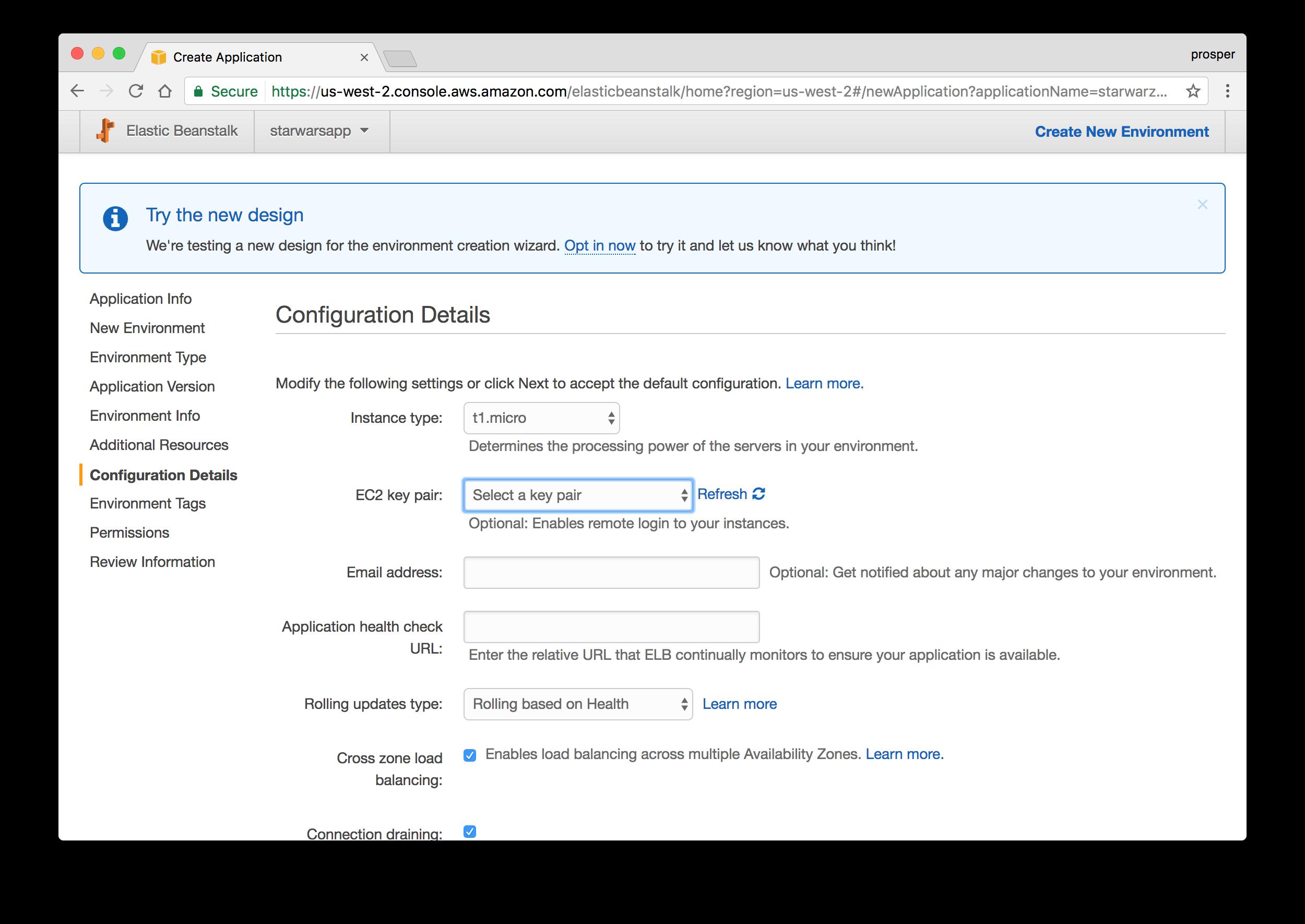 Configuration details
