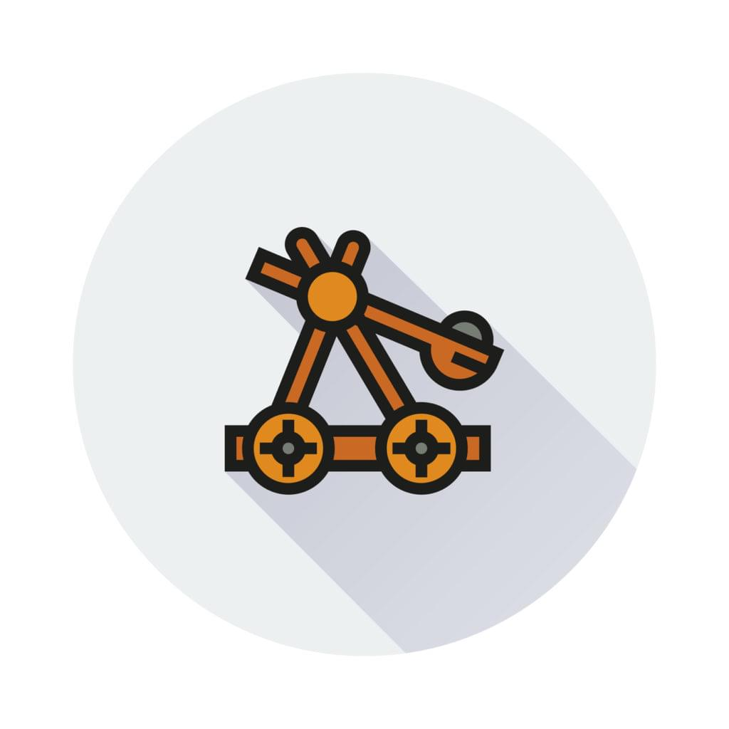 Vector image of catapult