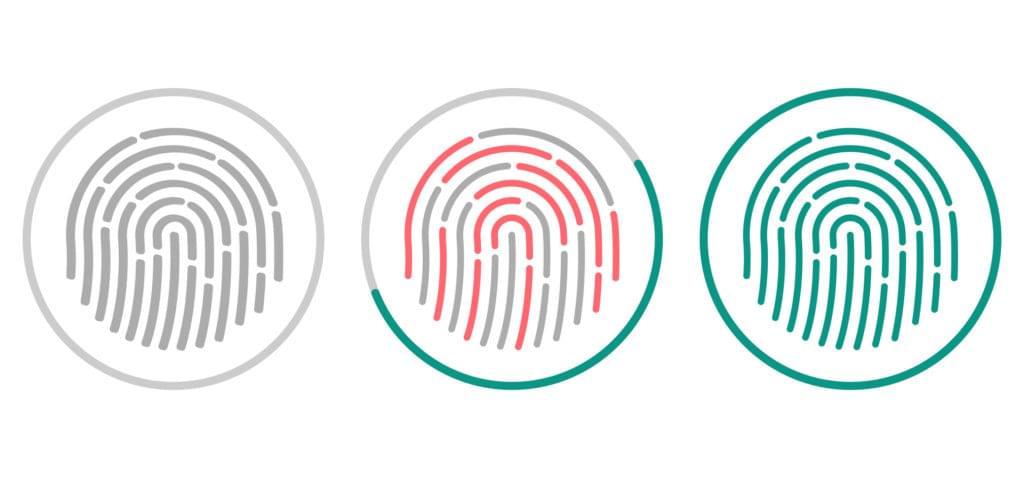 Fingerprint scan progressing