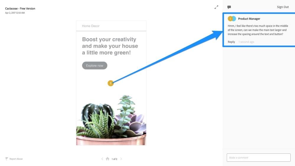 Generating design feedback in Adobe XD