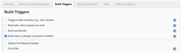 Jenkins Build Triggers