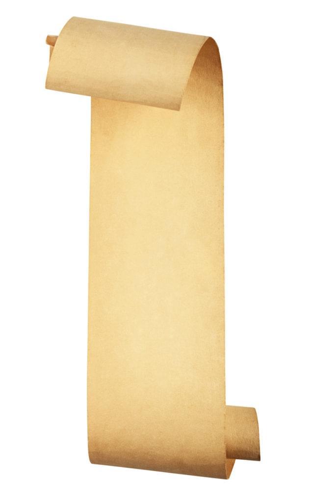 Illustration of a scroll, indicating a long log