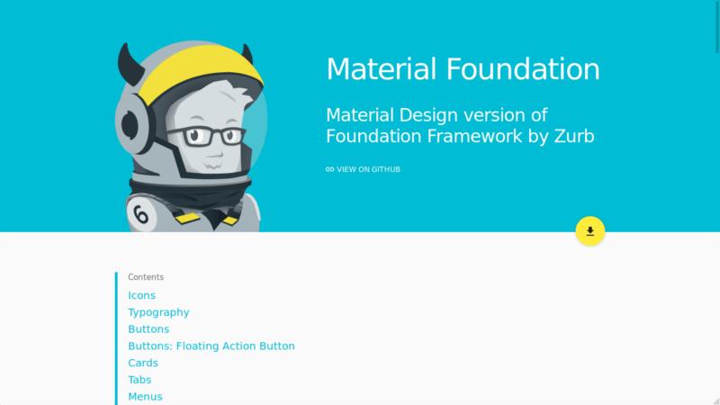 Material Foundation Material Design CSS Framework