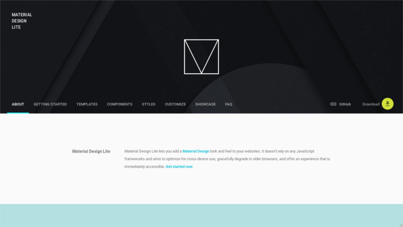 Material Design Lite CSS Framework