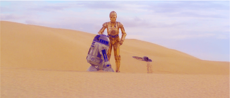 C-3PO in the desert
