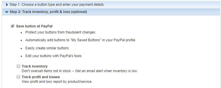 PayPal Button Controls
