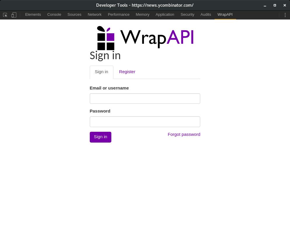 WrapAPI Chrome extension