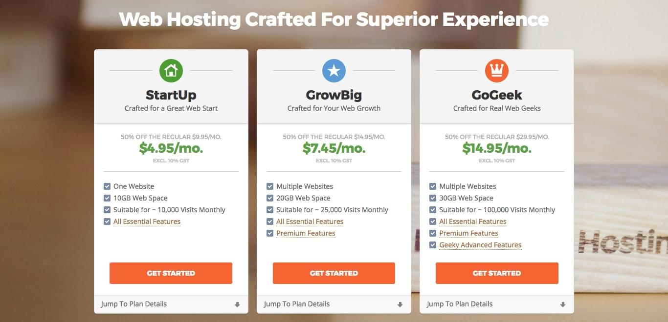 SiteGround Review: Shared Hosting Plans