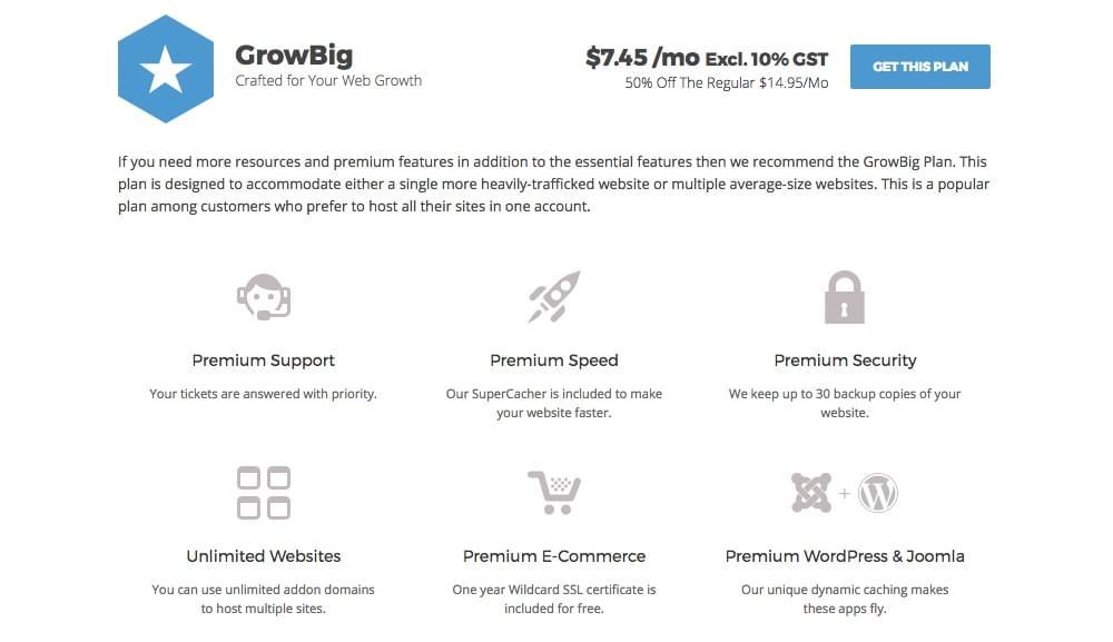 SiteGround Review: GrowBig