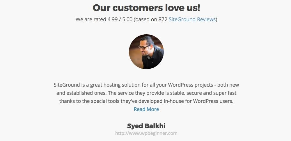 SiteGround Review: Customer Satisfaction