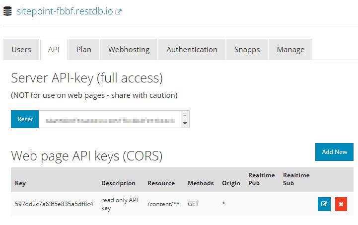 RestDB API Key
