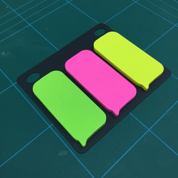 Sticky note speech bubbles are ideal for messages or popups