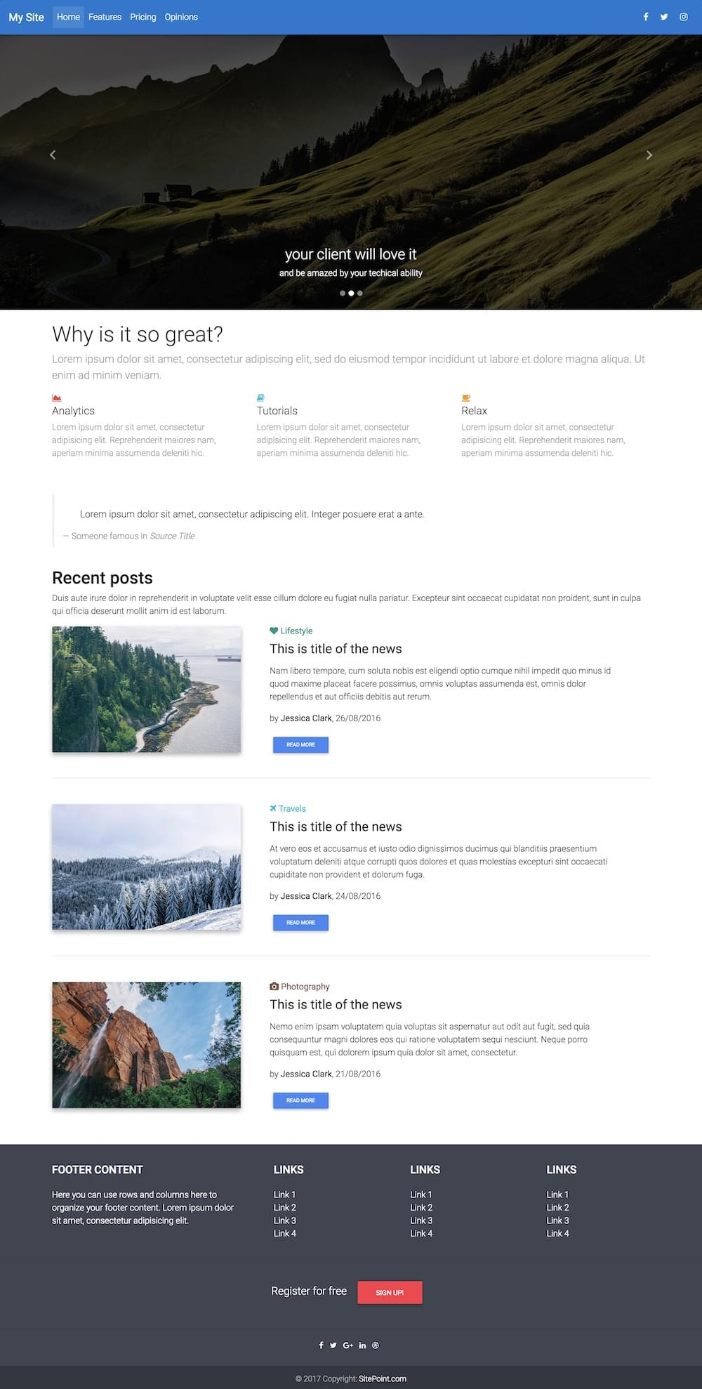 Material Design for Bootstrap Project Preview