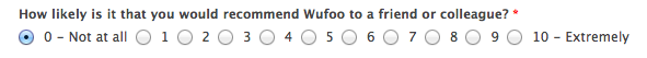 It's likely that many users will give an unintended rating, given the poor spacing here