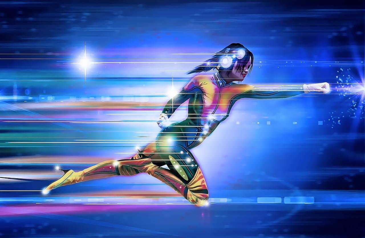 Superhero speeding