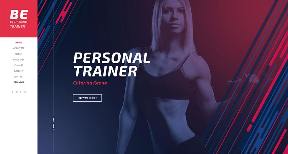 Be Theme - Personal Trainer