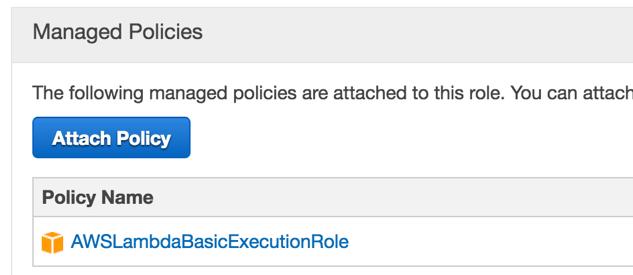 AWS Lambda Basic Execution Role