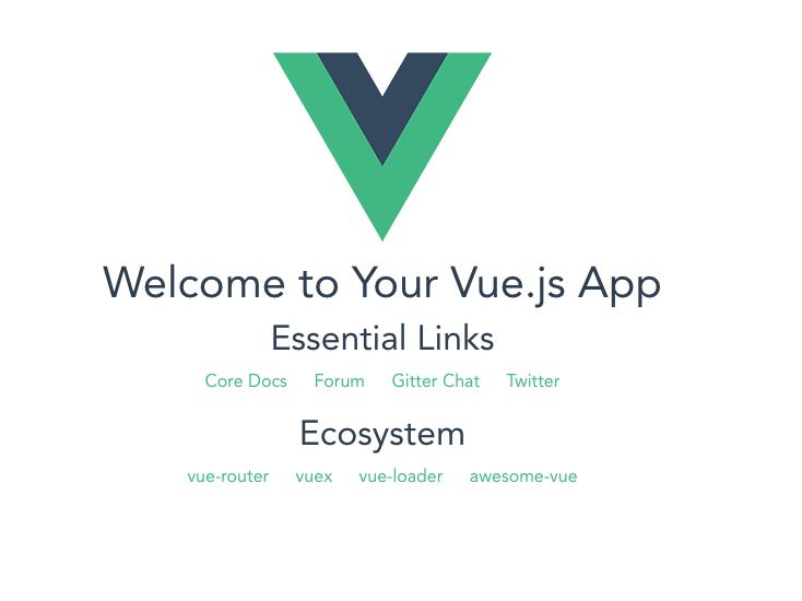 Vue.js splash page