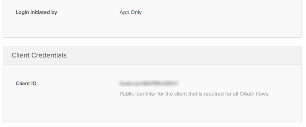 Client ID Screen
