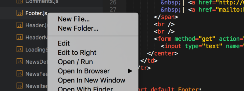 Sublime Text Sidebar Enhancements